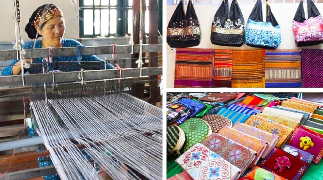 Các sản phẩm dệt thổ cẩm Châu Giang