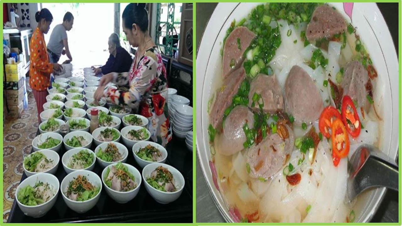 Hủ tiếu nước súp tại lò hủ tiếu Sáu Hoài Cần Thơ