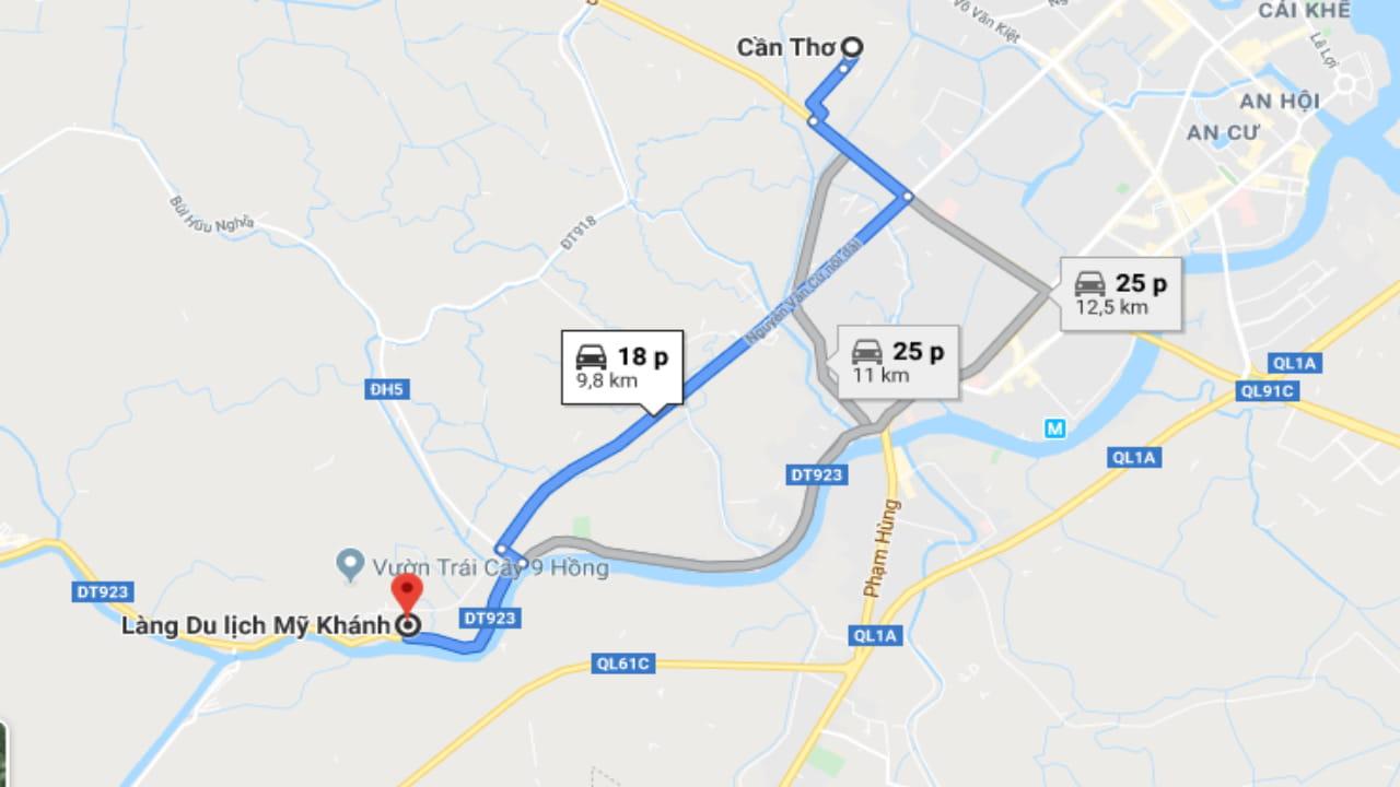 Khu du lịch Mỹ Khánh ở Cần Thơ