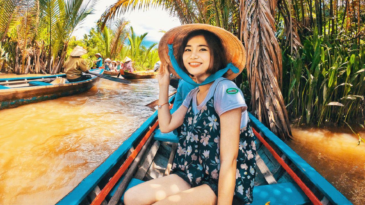 Rạch nhỏ đẹp ở Tiền Giang