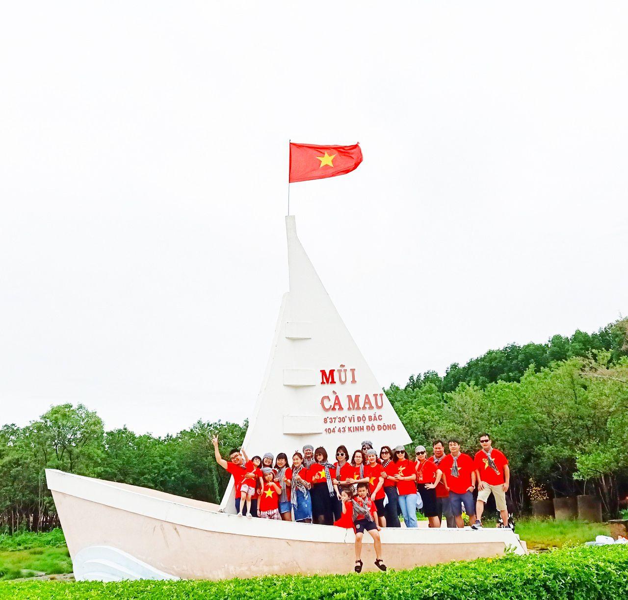 Check-in Mũi Tàu tại Cà Mau - tour Cần Thơ Cà Mau An Giang 3 ngày 2 đêm