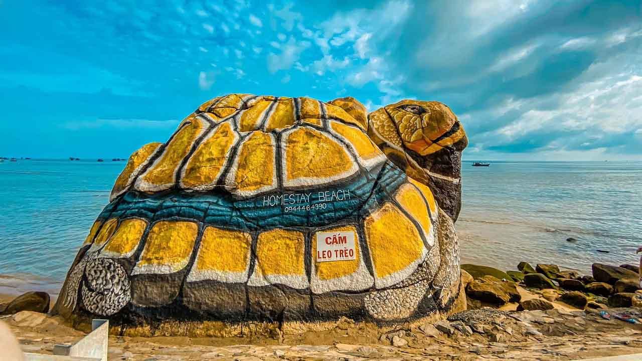 Check-in tương con rùa rực sắc màu - tour Cần Thơ Hòn Sơn 2 ngày 1 đêm