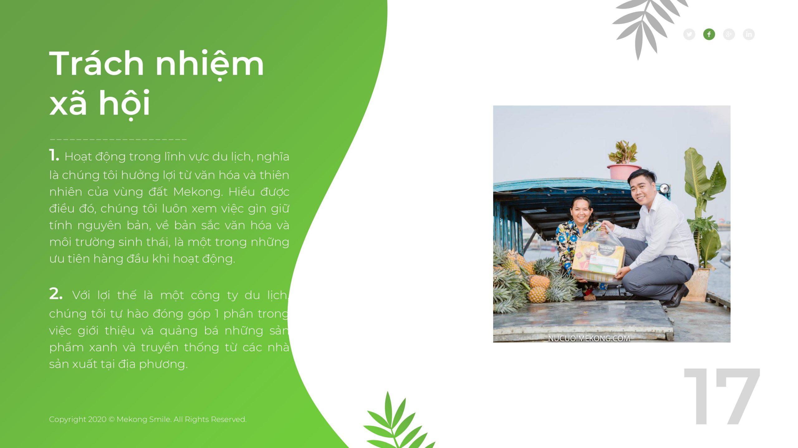 Nụ Cười Mê Kông và trách nhiệm đối với xã hội và cộng đồng
